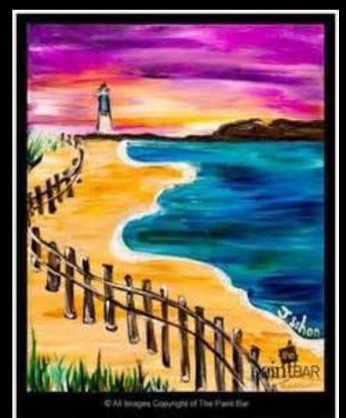 Colorful Lighthouse Sip & Paint Party