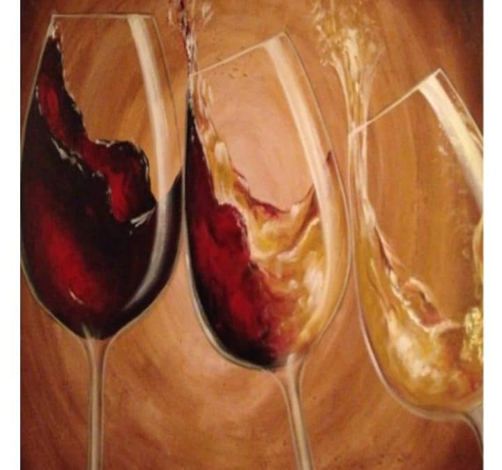 """Three Wine Glasses"" Canvas Paint Class"