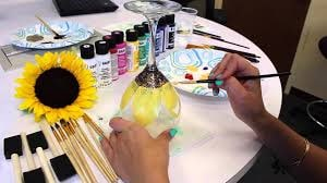 SPRING Wine Glass Paint Party