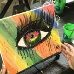 """Colorful Eye"" Canvas Paint Class"