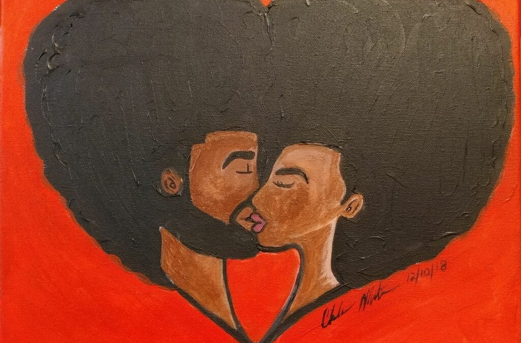 Love and Black History Canvas Painting @ All American Steakhouse